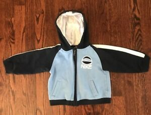 e94259fc9 Boy s Toddlers Full Zip Hoodie Nike Basketball Size 24 Months Blue ...