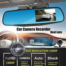 "4.3"" Dual Lens Car Front Rear Video Recorder Dash Cam HD 1080P Driving Recorder"