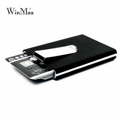 card holder Waterproof credit card money cash clip Case Pocket Box Business ID C