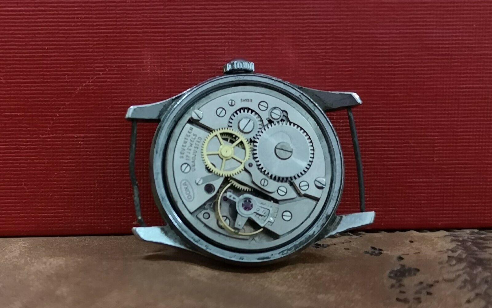 Immagine 51 - DOXA SECONDA GUERRA MONDIALE ANNI'40 Militare Vintage SS RARA 17J orologio svizzero.
