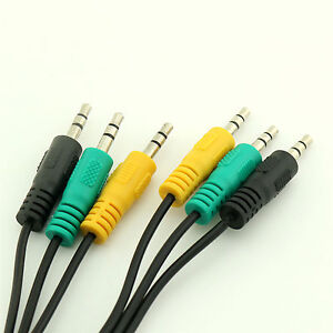 Audio Cable 3 to 3 Mini Jack Color for 5.1 Channel Logitech Computer ...