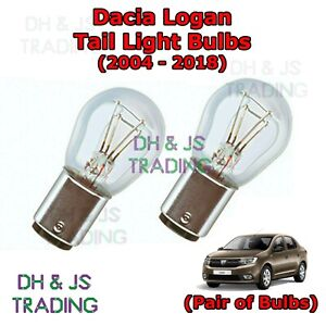 2x Dacia Logan MCV Genuine Osram Original Tail Light Bulbs