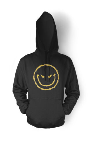 Evil Smiley Face Have a Nice Day Joke Scary Mean Bad Angry Fun Hoodie Sweatshirt