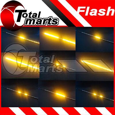 "12"" Car Truck Knight Rider LED Decoration Strobe Flash Strip Light AMBER"