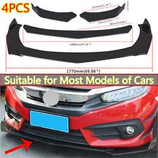 4x Universal Front Bumper Lip Body Kit Spoiler Splitter Gloss Black For Benz Bmw Fits Cayenne