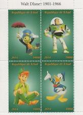 "DISNEY JIMINY CRICKET TOY STORY PETER PAN 4.5"" x 3.5"" 2014 MNH STAMP SHEETLET"