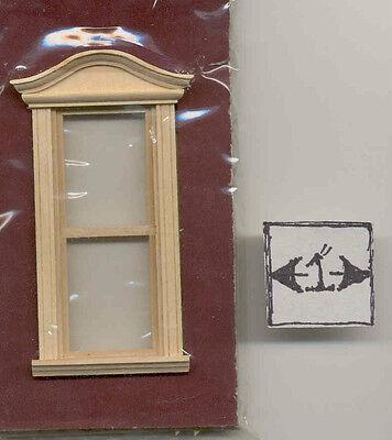 Window Bonnet Pediment Half Scale 1:24 Dollhouse wooden #H5057 Houseworks
