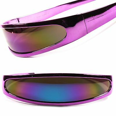Party Costume Cyclops Alien Space Robot Revo Futuristic Novelty Sunglasses C15D
