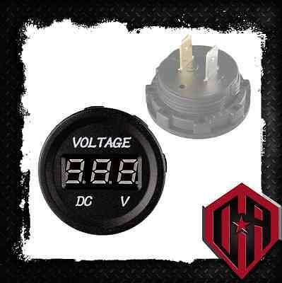DC 12V-24V LED Digital Display Voltmeter Voltage Meter Panel New JEEP MARINE ATV