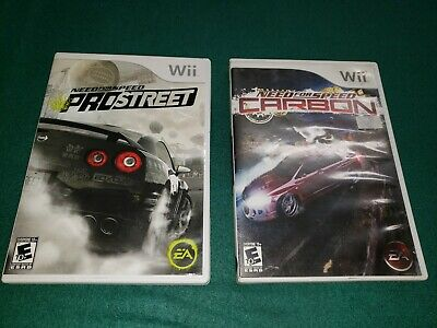 Need For Speed Carbon And Pro Street 2 Game Lot Nintendo Wii