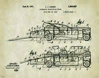 Semi Truck Patent Poster Art Print Peterbilt Mack Toys Parts Car Hauler Pat304
