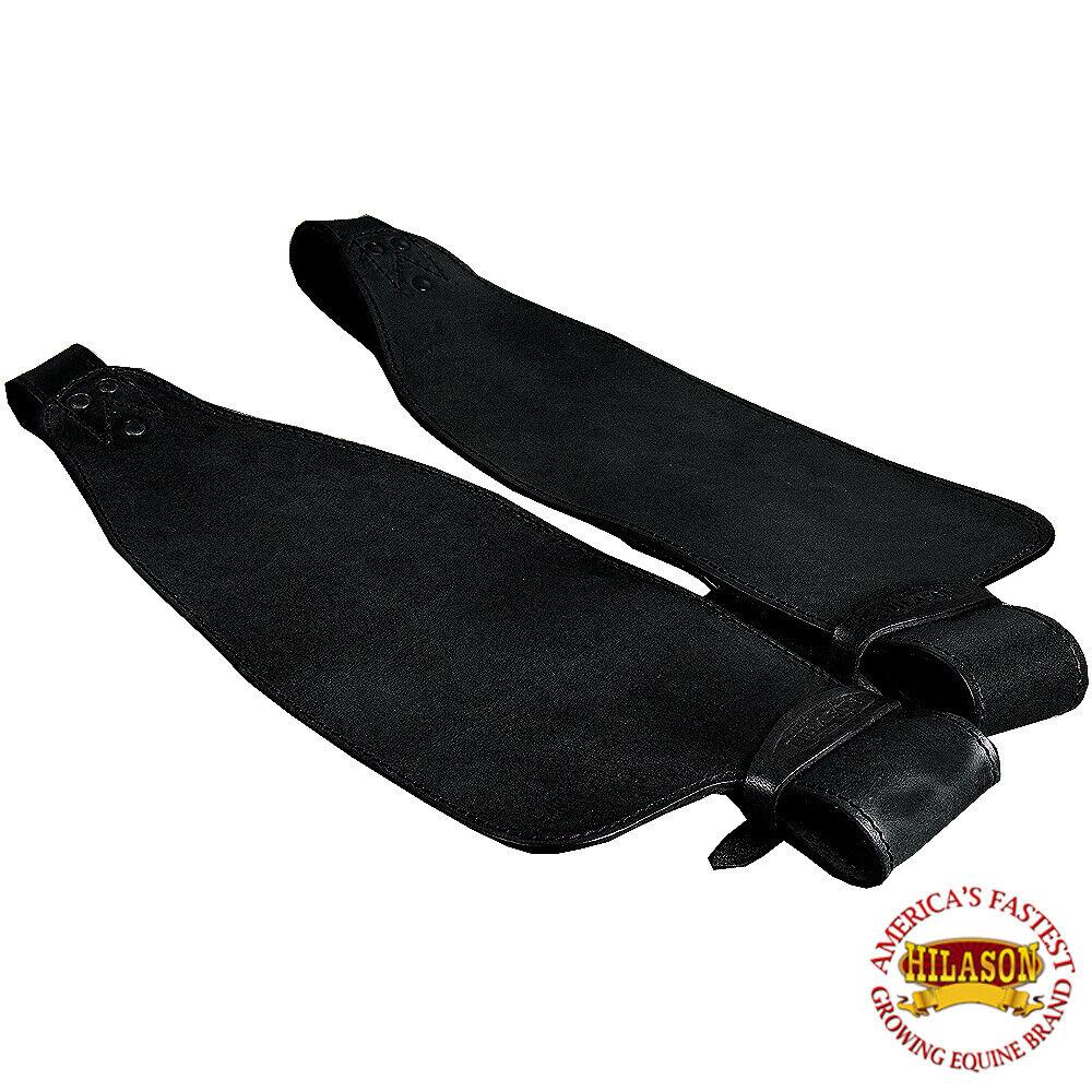 Replacement Saddle Fenders Hilason Leather Pair Adult W  Hobble Strap U-15BK