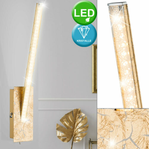 Luxus LED Wand Lampe Wohn Ess Zimmer Strahler Kristall Gold Lese Dielen Leuchte