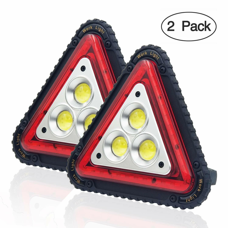 Otyty 3 COB 30W 1500Lm LED Luz de trabajo, ReCochegable Portátil Impermeable LED Floo