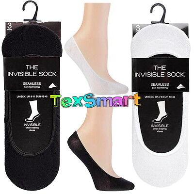 6 o 12 Tienda de calcetín Impecable Invisible Trainer Liners calcetines Algodón ricos Manitas