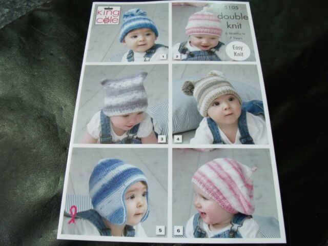KING COLE DOUBLE KNITTING PATTERN 5105 6 months to 7 Years
