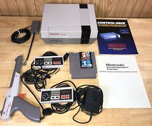 RARE-Nintendo-LOW-Serial-NES-Set-w-MATCHING-Warranty-Sheet-SERVICED-NICE