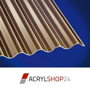 polycarbonat pc wellplatten lichtplatten sinus wabe pc bronce braun hagelsicher ebay. Black Bedroom Furniture Sets. Home Design Ideas