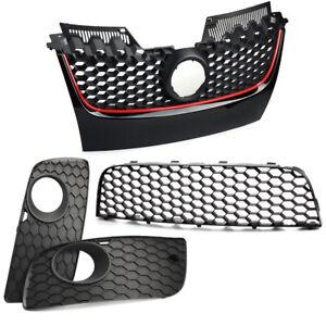 Front-Bumper-Center-Lower-Grille-Fog-Light-Grill-Fits-For-Vw-Golf-Jetta-MK5