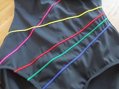 *sportlichen Badeanzug*gr. 40 C*neuwertig**toller Schnitt*schwarz* Streifen