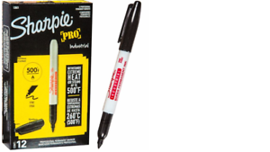 Sharpie 13601 Industrial Permanent Marker 12 Count for sale online Black