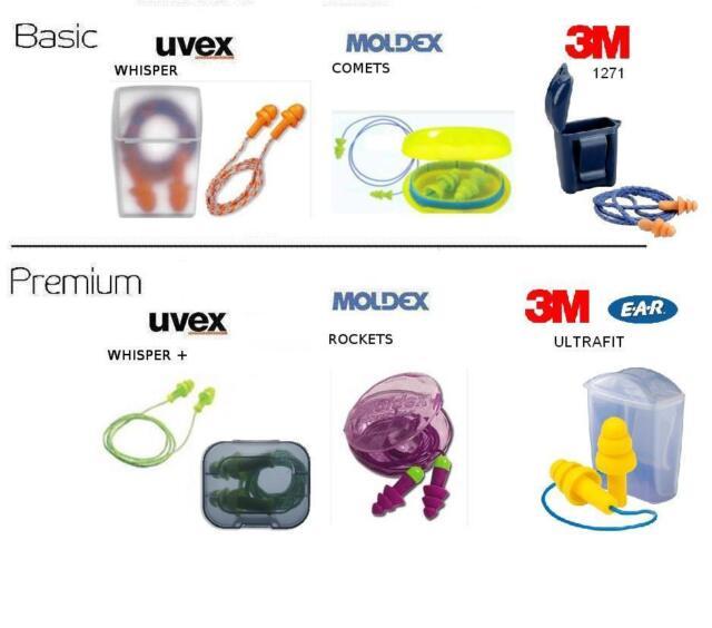 Mehrweggehörschutzstöpsel Ohrstöpsel Gehörschutz UVEX MOLDEX 3M EAR NEU OVP