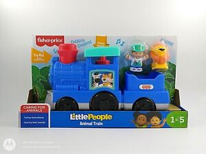 Fisher-Price-Little-People-treno-degli-animali-Push-Along-suoni-eta-1-5-UK-STOCK