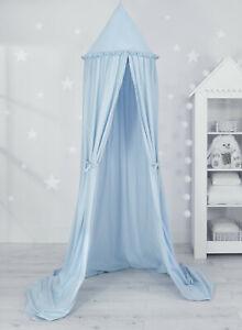 Details zu Betthimmel / Baldachin / Hängezelt Kinderzimmer Farbe blau
