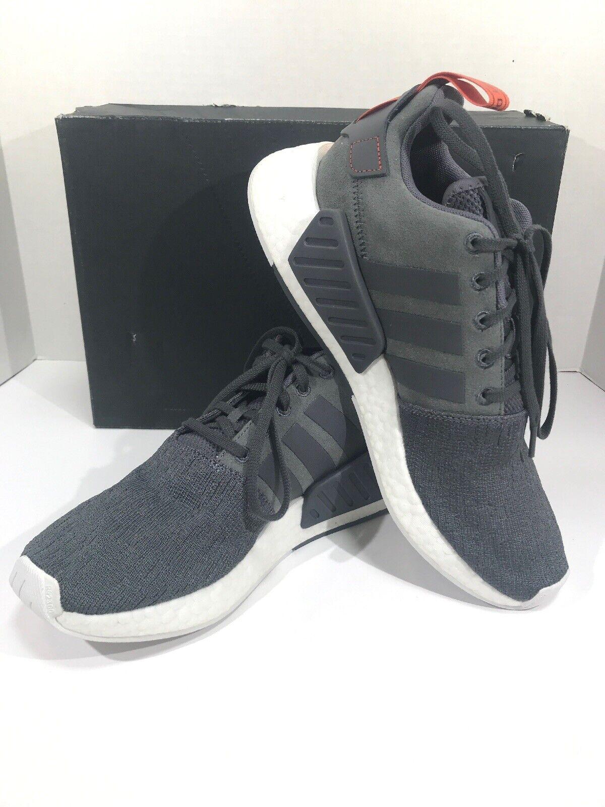 reputable site dcfb3 72818 Adidas Originals BY3014 NMD R2 Men's Size 8.5 Grey Grey Grey ...