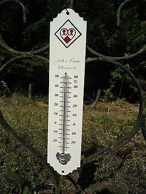 Thermomètre émaillé Publicitaire 25 cm STA émail véritable Fabriqué en France