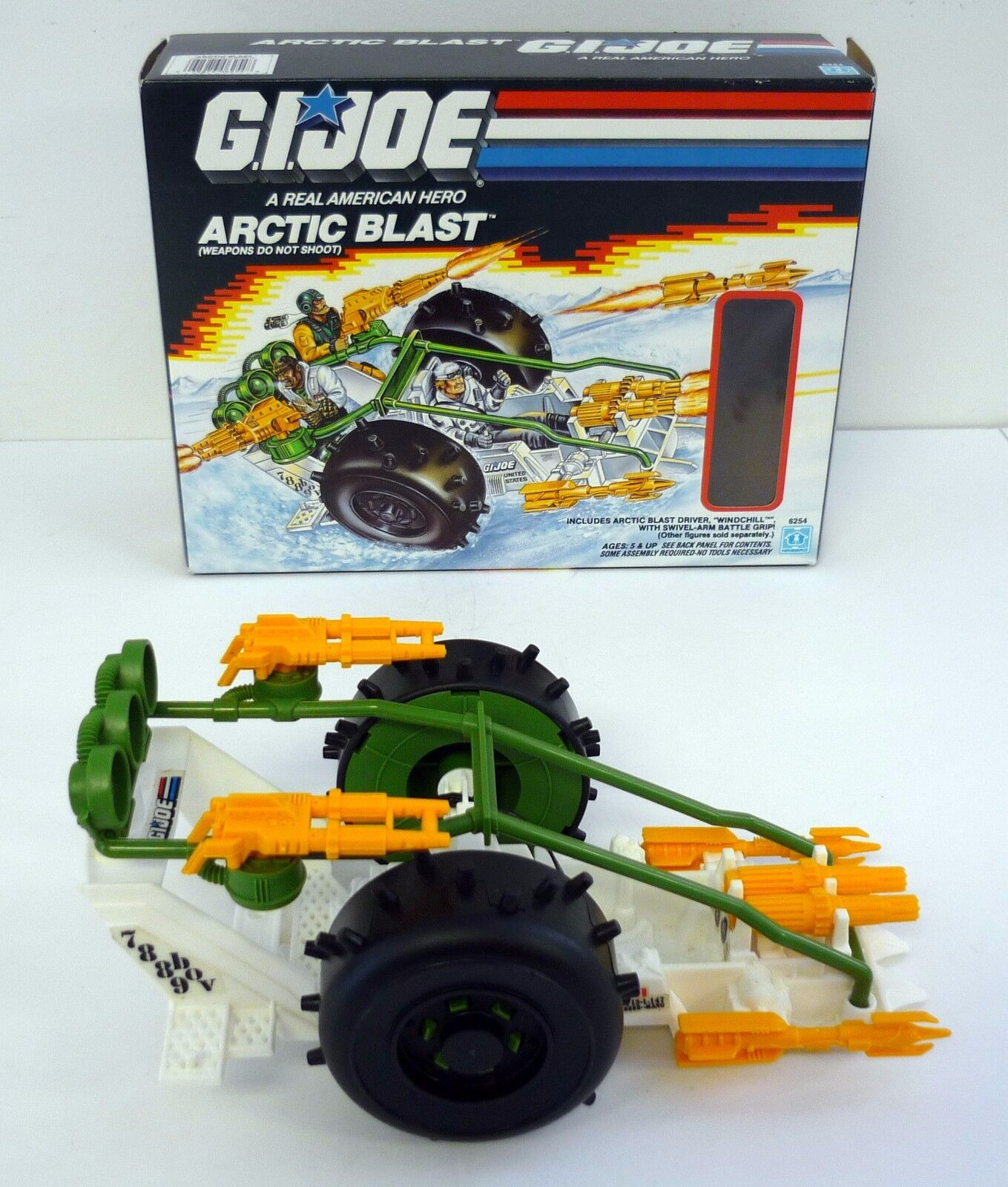 GI  JOE ARCTIC BLAST Vintage Action Figure Vehicle COMPLETE w BOX 1989  haute qualité et expédition rapide
