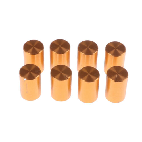 8pc 10*15mm 6mm Dia Knurled Shaft Aluminum Volume Control Potentiometer Knobs VO