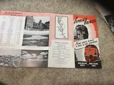 1941 Rock Island Burlington Railroad Zephyr Rocket Name Train Brochure