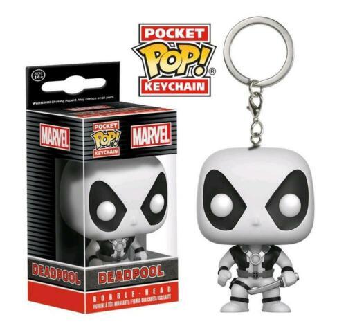 Vinyl Keychain Deadpool Blanc X-Force Marvel Comics Pocket POP