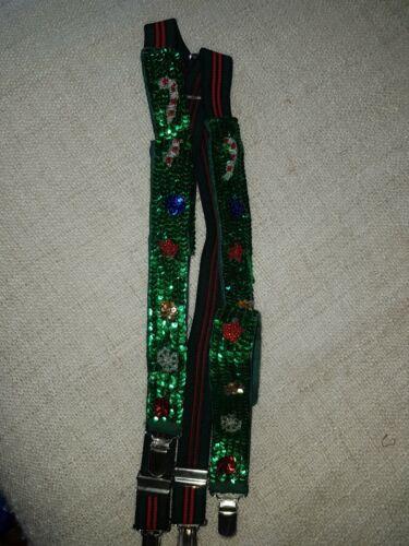 Christmas suspender Pants
