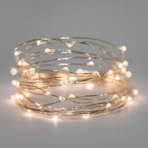 Set 20 warm white led bulb fairy light battery wedding table