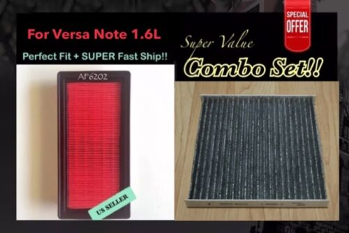ENGINE/&CARBONIZED CABIN AIR FILTER For VERSA 2012-2016 VERSA NOTE QUALITY FILTER