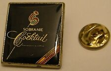 SOBRANIE COCKTAIL Black Russian vintage pin badge tobacco cigarette cigar smoke