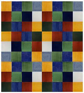 40-PCS-Mexican-Talavera-Tiles-6X6-Handmade-Ceramic-Decorative-Solids