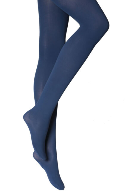89405f204 Womens Ladies Navy Opaque Plain Tights 60 Denier Plus Size XXL 20-24 ...