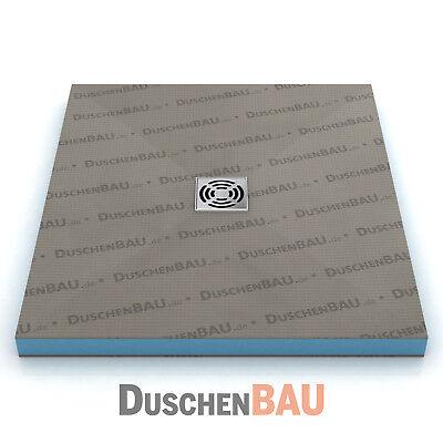 Duschelement Profi 110x160 cm befliesbar bodeneben Duschboard Duschtasse