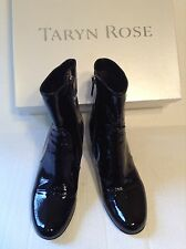 Beautiful Taryn Rose Chocolate Brown Patent Leather Heel Boots Size 4.5