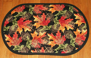 Oval Holiday Ornaments Table Runner  12x23  Table Mat  Centerpiece  Christmas Collection