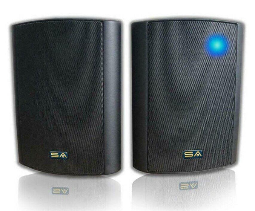 """Sound Appeal 5.25"""" Indoor/Outdoor Weatherproof Bluetooth Blast Speakers - Black   Ebay"""