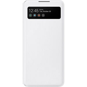 Original-Samsung-S-View-Wallet-Cover-Huelle-EF-EA426-fuer-Galaxy-A42-5G-Weiss-White