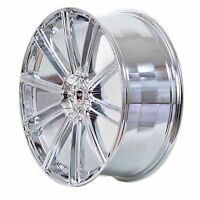 4 Gwg Wheels 18 Inch Chrome Flow Rims Fits Et40 Ford Transit Connect Wagon 2010