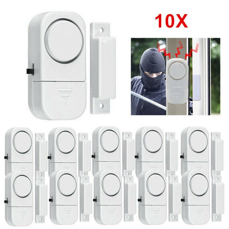10pcs Wireless Window Door Burglar Security Alarm System Home Magnetic Sensors C