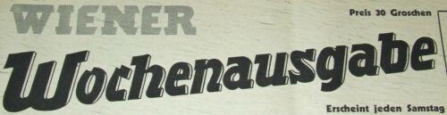 """Geburtstag /""""Wiener Wochenausgabe/"""" … November 1945 75"""