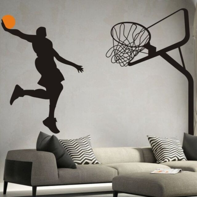 Basketball Dunk Sport Removable Wall Art Decal Vinyl Sticker Mural Decor DIY