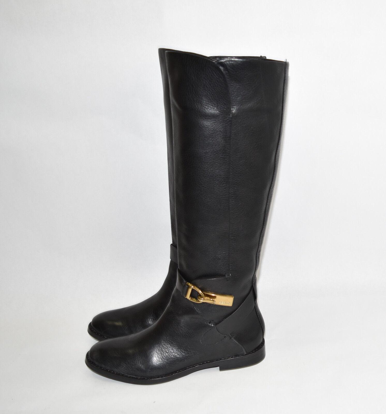 New  Aerin 'Matilda' Tall Tall Tall Riding Black Leather Boot Size 6.5 3db33a